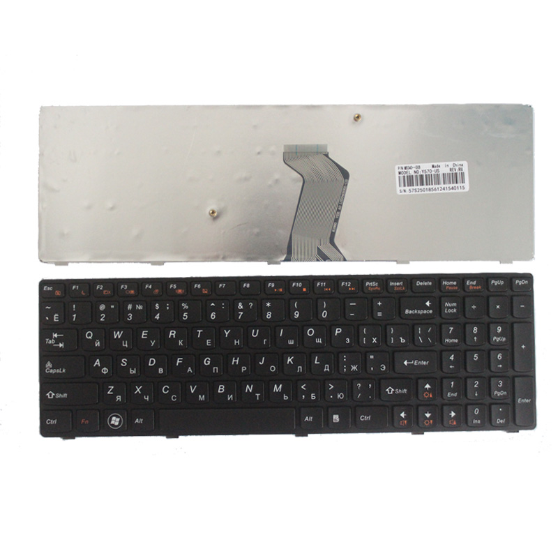 NEW Russian Keyboard For IBM Lenovo Ideapad Y570 Y570N Y570NT Y570P Y570I RU Laptop Keyboard