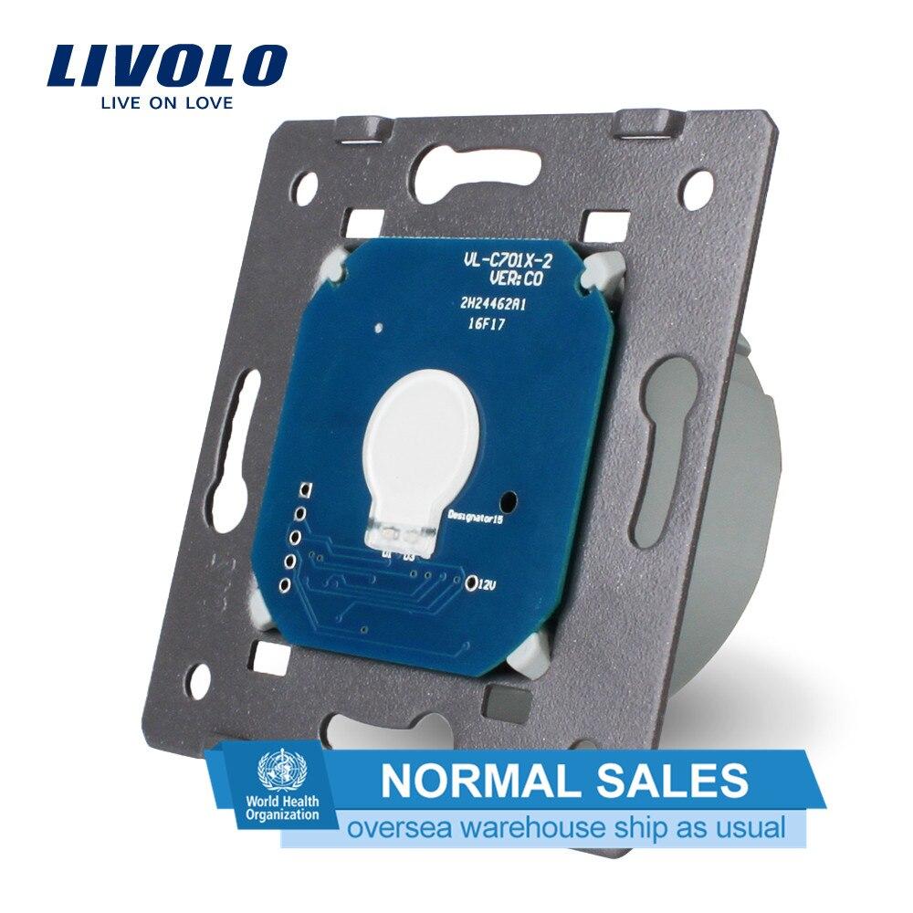 Livolo основа сенсорного экрана настенный выключатель света Бесплатная доставка, стандарт ЕС, AC 220 ~ 250 В, VL-C701