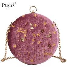 2019 Starry sky Circular Fashion Suede Shoulder Bag Ptgirl crossbody bags for women handtassen dames bolsas femininas pink bag
