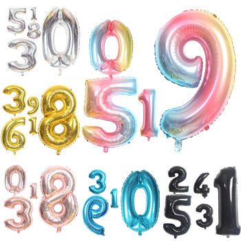 16 32 40 Cal wielka tęcza balony cyfry 0 1 2 3 4 5 6 7 8 9 cyfrowy helu Ball ślubne dekoracje na imprezę urodzinową dzieci Globos tanie i dobre opinie CN (pochodzenie) Numer FOLIA ALUMINIOWA Ślub i Zaręczyny Chrzest chrzciny Na Dzień świętego Patryka Wielkie wydarzenie