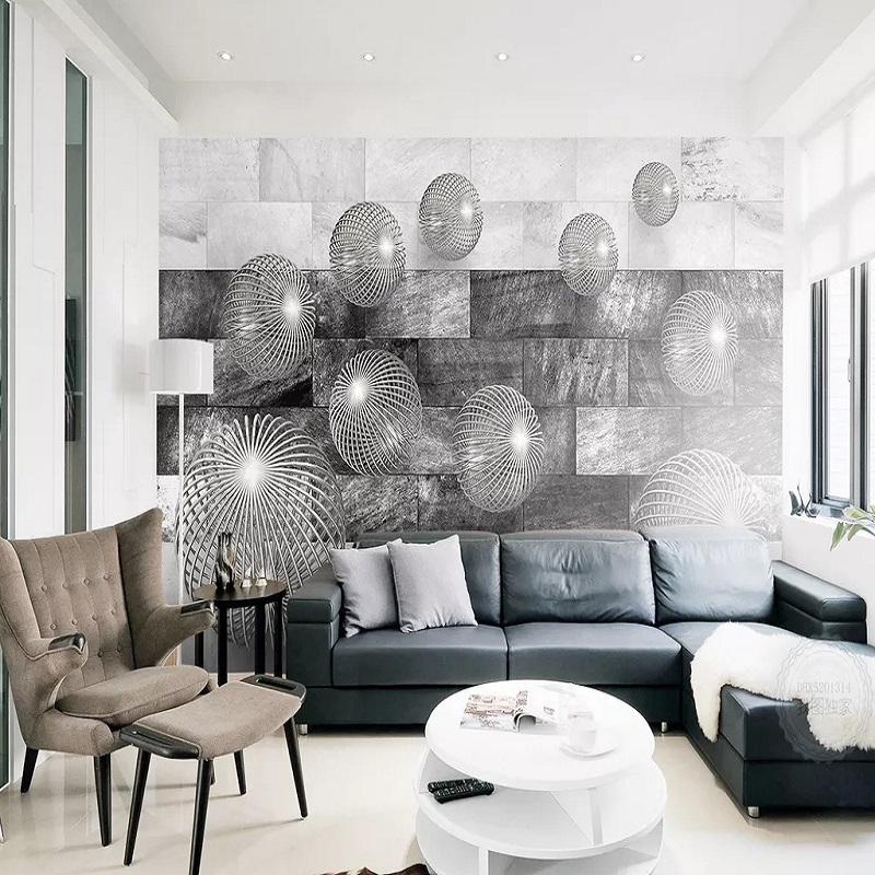 Custom Large Mural 3D Wallpaper Personalized Creative 3D Space Expand Sphere Living Room TV Back Wall Decor Deep 5D Embossed
