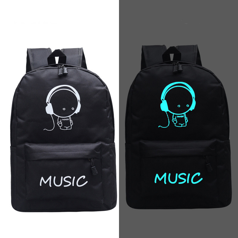 Fashion New Luminous Backpack Animation School Bags For Boy Girl Teenager USB Student Bags Men Reflective Leisure Shoulder Bag