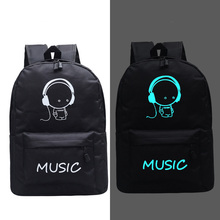 Fashion New Luminous Backpack Animation School Bags For Boy Girl Teenager USB St