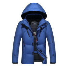 90 white duck down High quality men #8217 s winter jacket thick snow parka overcoat white duck down jacket Men wind down coat 1987 cheap JUNGLE ZONE Thick (Winter) G1987 REGULAR Casual zipper Denim Polyester Acetate Full Solid Hat Detachable Button Pockets