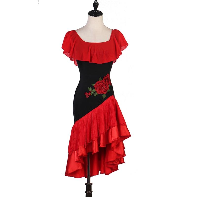 Latin Dance Dress Women Cha Cha Samba Salsa Fringe Competition Dresses Ladies Rumba Tango Performance Clothing Customized DC4061