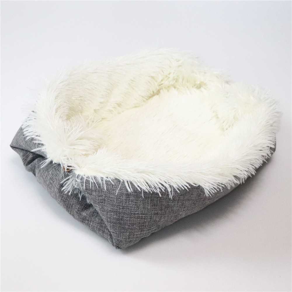 New Soft Cat Bed Rest Dog Blanket Winter Foldable Double use of pet bed matCushion Hondenmand Plush Soft Warm Sleep Mat 6