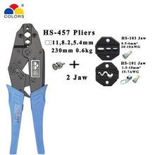 Cores HS-457 alicate de friso coaxial rg55 rg58 rg59, 62, relden 8279,8281,9231,9141 coaxial crimper sma/bnc conectores ferramentas