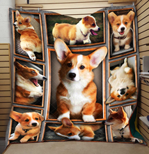 Dropshipping 3D Corgi Quilt High End Cute Fashionable Kids School Adults Bed Summer Cool Quilt Creative Hot Sales