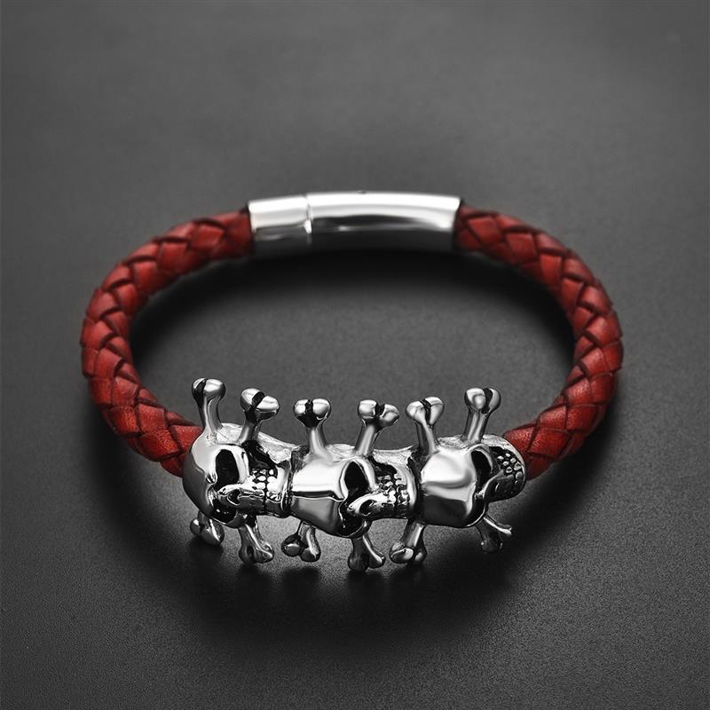 Bracelet gothique crâne  1