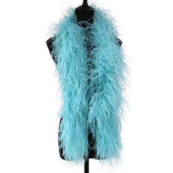 1meter Multicolor Natural Ostrich Feather boa 10ply White Ostrich feathers scarf Dress Clothing Decoration Sewing Crafts
