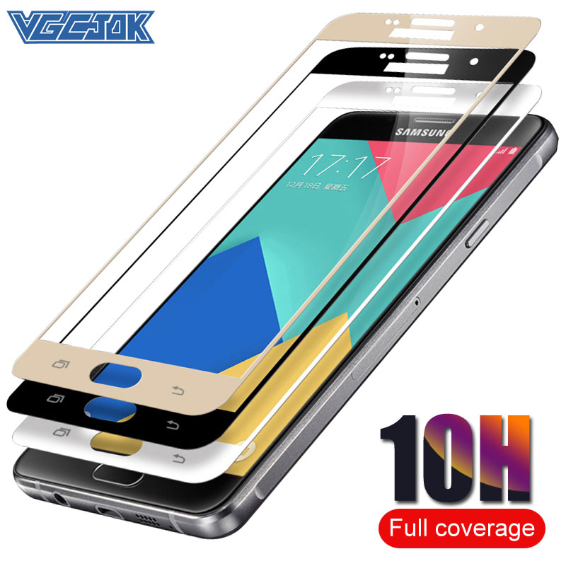 10H Full Cover Protective Glass For <font><b>SAMSUNG</b></font> Galaxy <font><b>S7</b></font> A5 A3 A7 J7 J5 J3 2016 2017 Version Phone <font><b>Screen</b></font> <font><b>Protector</b></font> Tempered Glass image