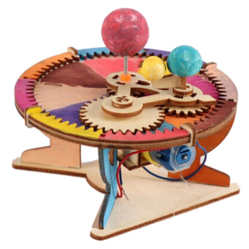 Астрономические подарки, модель солнечной системы «солнце, земля, луна», «сделай сам», детские игрушки для науки, географии, образование, шк...