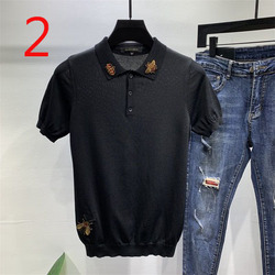 2020 new self-cultivation simple half-sleeved men's shirt tide brand compassionate wild handsome t