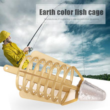 2019 Fishing Feeder Bait Cage Lure Khaki Lead Holder Stringer Lures Tackle Accessory Tools