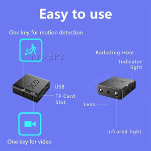 Image 5 - Kleinste Mini Kamera 1080P Full HD Video Recorder IR Cut Night Vision Motion Detection Micro Cam Kamera Espia Geheimnis camcorder