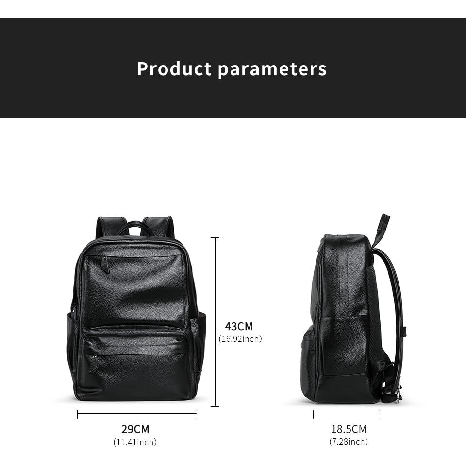 portátil masculino mochila de escola de alta