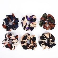 цена на Women color blocking Scrunchie Elastic Hair Rope Ring Tie Ponytail Holder Hair Band Headband Elastics Hair Bands for Girls