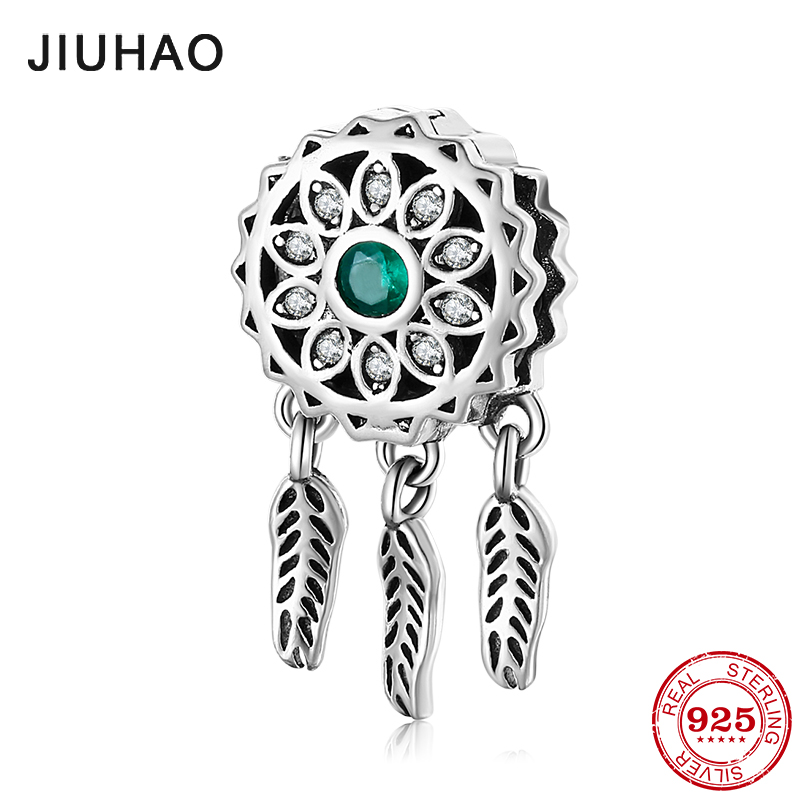 Authentic 925 Sterling Silver Good Luck Arrives Dreamcatcher Metal Beads Clip Fit Original Reflexion Charm Bracelet Jewelry