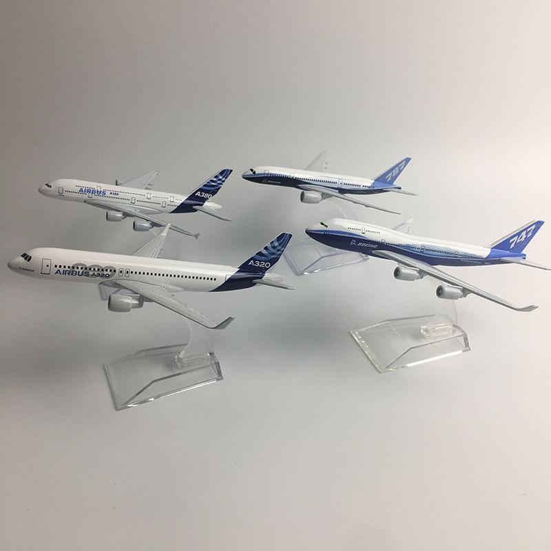Джейсон пачка оригинальная модель a380 Аэробус Boeing 747 модель аэроплана самолет модель, полученная литьём под давлением металлический 1:400 само...