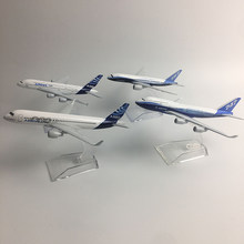 JASON TUTU Original model a380 airbus Boeing 747 airplane model aircraft Diecast Model Metal 1:400 airplane toy Gift collection