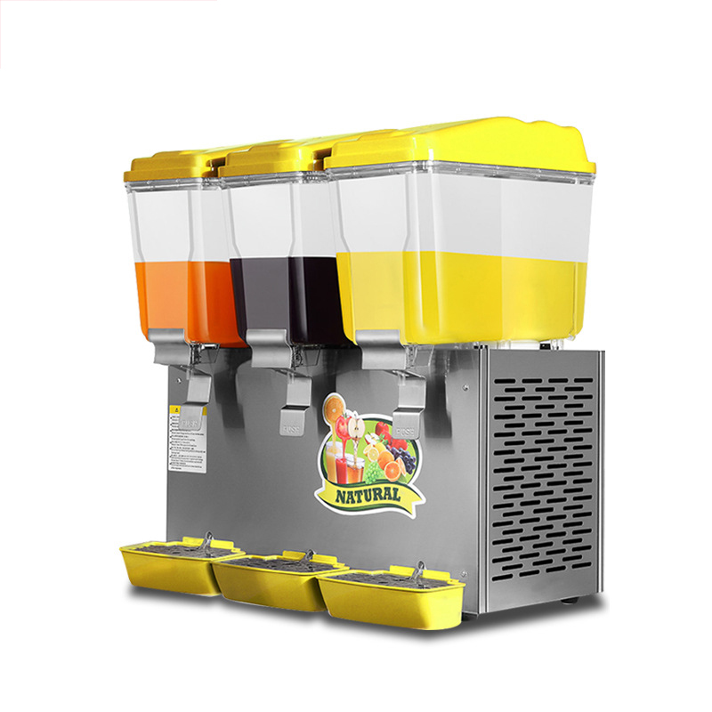 BS-338 Commercial Beverage Machine Transparent Juice Machine Hot And Cold Drinks Automatic Three-cylinder Cold Drink Machine