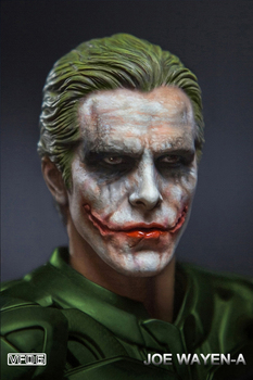 Collectible 1/6 Scale European / American heroes Young master Batman Joker Makeup Model Head Carving fit 12