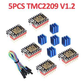 цена на 5PCS TMC2209 V1.2 Stepper Motor Driver with Heatsink for SKR V1.3 MKS GEN L Ramps 1.4/1.5/1.6 3D Printer Parts