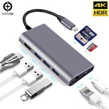 USB C Hub, 8-In-1 USB C Adapter mit 4K USB C zu HDMI, 3 USB 3.0 Ports, TF/SD Kartenleser, Pd Lade Port, RL45 für MacBook