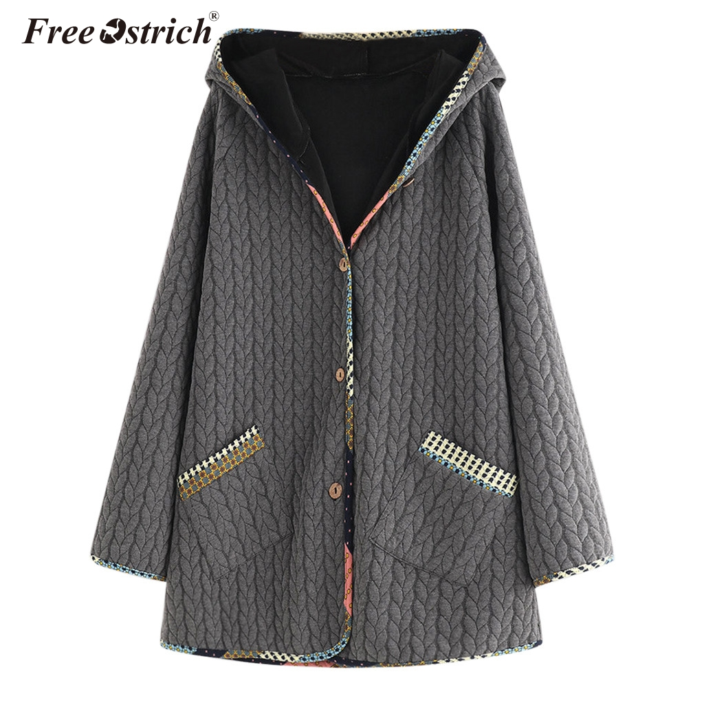 Free Ostrich Autumn Winter   Jacket   Women Coat Casual Girls   Basic     Jackets   Cardigan Long Sleeve   Jacket   Female Coats Plus Size N30