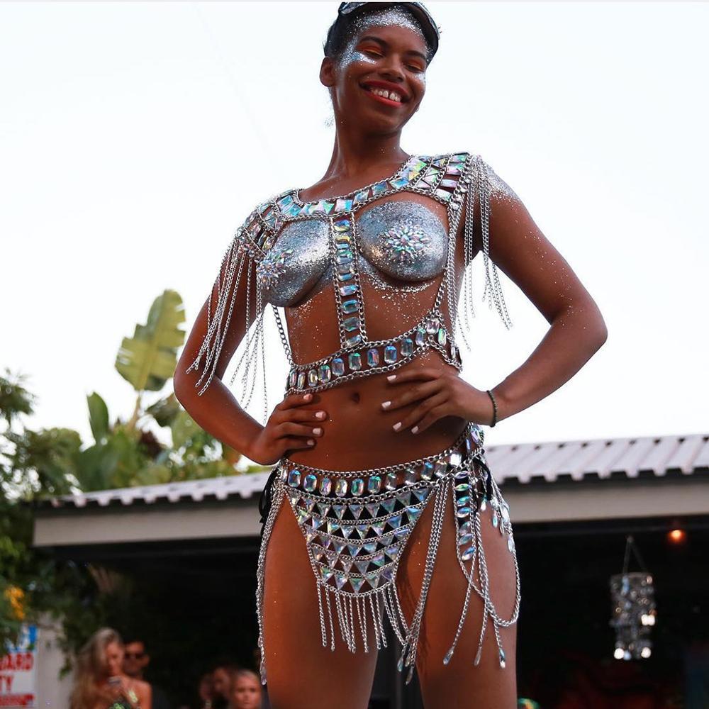 Vedawas nouveau bijoux boîte de nuit plage sauvage corps collier mode Sexy corps chaîne taille chaîne ensemble femmes accessoires en gros