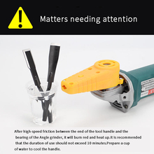 Multifunctional electric angle grinder woodworking chisel woodworking carving knife wood carving bonsai root carving tool