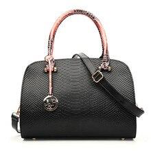 New Japan and South Korea Women's Handbag Handbag PU Leather Shoulder Bag Diagonal Snake Skin Pattern Ladies Bag