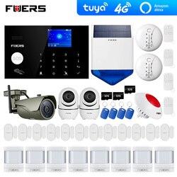 4G Tuya Alexa Wifi GSM alarm alarmanlagen sicherheits hause Solar Sirene Touch tastatur Smart Home Einbrecher Alarm System ip wifi kamera