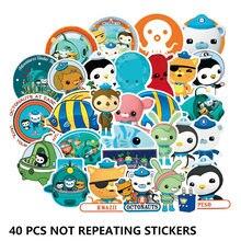 40 adet Octonauts değil tekrarlanan çocuk oyuncakları çıkartmalar film Barnacles/usd/usd/PVC su geçirmez kabarcık Sticker çocuk odası parti malzemeleri