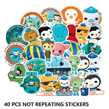 40pcs Octonauts not repeating kids Toys Stickers Movie Barnacles Peso PVC Waterproof Bubble Sticker Children Room Party Supplies - discount item  5% OFF Classic Toys