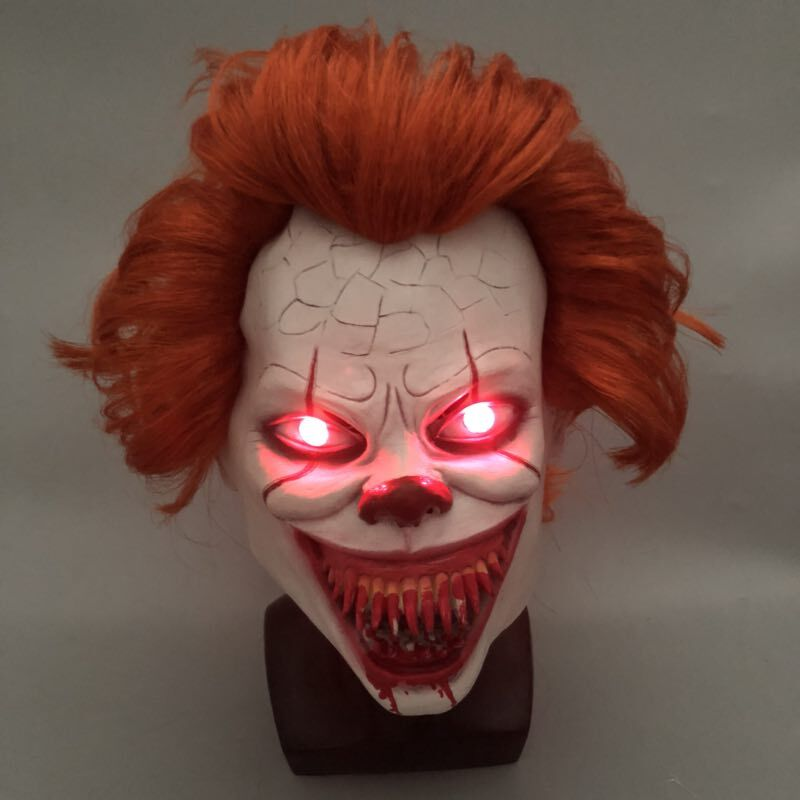 LED-It-Chapter-2-Pennywise-Clown-Cosplay-Mask-Flash-Scary-Stephen-King-Latex-Halloween-Masks-Bloody