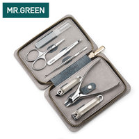 MR.GREEN Nail Art Tool Sets 7PCS/ Set Stainless Steel Universal Home Manicure Set Nail Clippers Cleaner Grooming Kit Nail Care