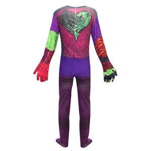 Image 5 - Costume Cosplay Evie pour filles, 3 Descendants de mode, robe pour filles, uniforme mal, Costume de carnaval dhalloween, combinaisons pour enfants