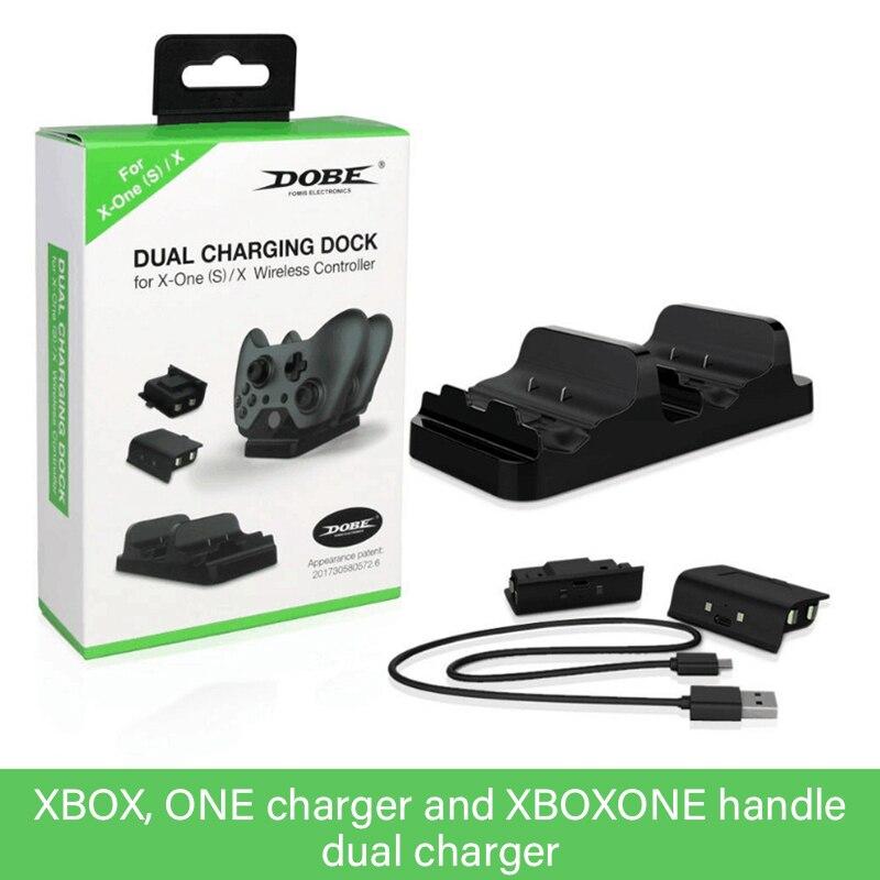 Быстрое зарядное устройство для контроллера XBOX ONE, двойное зарядное устройство + 2 шт. перезаряжаемых контроллера XBOX ONE, подставка для аккуму...