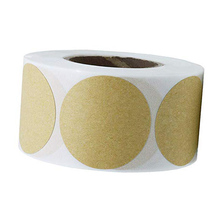 Smart Sticker 500 Brown Natural Kraft Paper Dot Stickers 50.8MM Round Circle Color Coding Labels