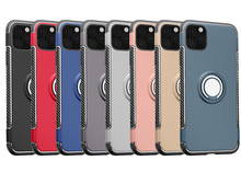 500 sztuk odporny na wstrząsy pancerz uchwyt samochodowy Kicksatnd magnes Case dla iPhone 12 Mini 11 Pro Max XS XR X 8 7 6 Plus SE metalowa osłona palca tanie tanio hahacase CN (pochodzenie) Aneks Skrzynki Apple iphone ów Iphone 6 Iphone 6 plus IPHONE 6S Iphone 6 s plus IPhone 7 IPhone 7 Plus