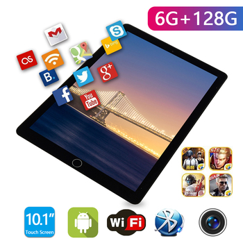 10.1inch Tablet Android 8.0 WIFI 4G Network SIM GPS Phone Call 10 Core IPS HD Screen 6GB RAM 128GB ROM Bluetooth Tablets PC 2021 2