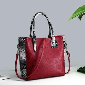 Image 5 - Conjunto de 3 piezas de lujo para mujer, bolsa de gran capacidad, bolso de hombro retro para mujer, bolso cruzado de cuero pu con billetera