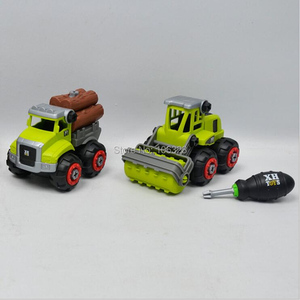 Image 5 - New 4 pcs in 1 set, DIY Farmer Screwing Blocks, Assembled Farm Tractor Car, Educational Toys Building & Construction Truck Model