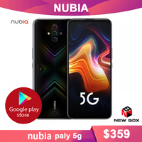 Nubia Play 5G MobilePhone 6.65 inch AMOLED 144Hz Screen Snapdragon 765G SA NSA Dual Band in screen 30W PD Quick Charger