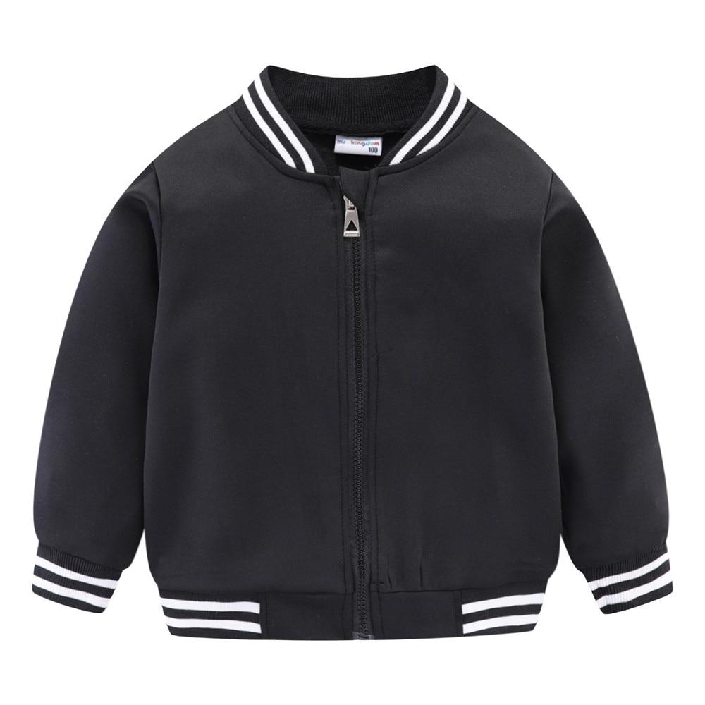 Mudkingdom Girls Boys Baseball Jacket Quick-dry Plain Kids Spring Autumn Clothes Fashion Outerwear Zip Up 4