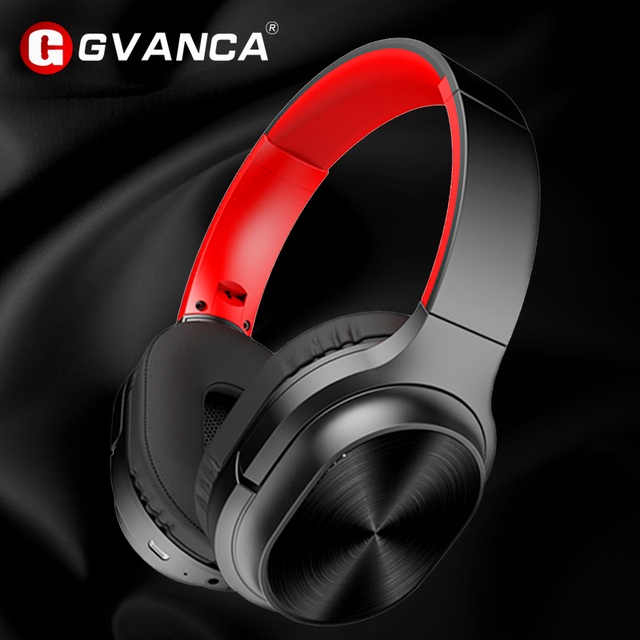 سماعة رأس GVANCA G2 لاسلكية Bluetooth5.0 سماعة رأس جهيرة الصوت العميقة HiFi تدعم بطاقة TF لمدة 30 ساعة