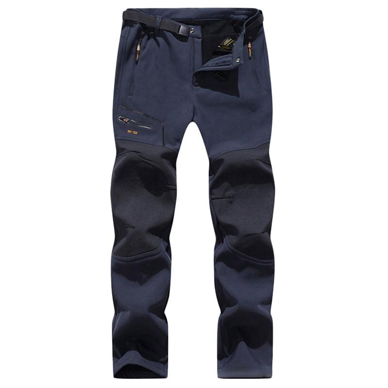 LUTU 2019 Winter Hiking Pants Fleece Softshell Pants Men Outdoor Trousers Waterproof Mountain Trekking Warm Thick Skiing Pant