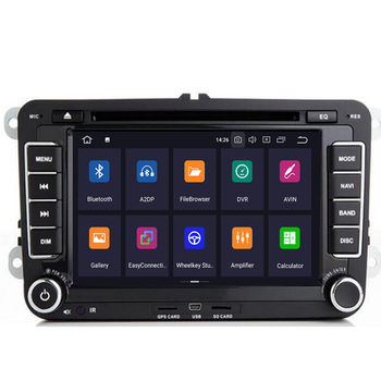 Android 10 7 2din Car DVD for VW POLO GOLF 5 6 POLO PASSAT B6 CC JETTA TIGUAN TOURAN EOS SHARAN SCIROCCO CADDY with 4GGPS Navi image