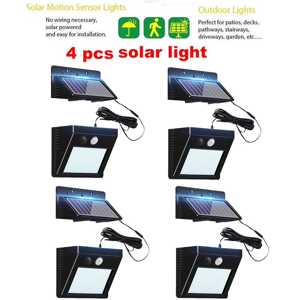 2/4pcs 100/56/30 LED Motion Sensor Light Solar Lights Lamp For Outdoor Wall Garden Yard Waterproof Rotable Stick With Four Modes
